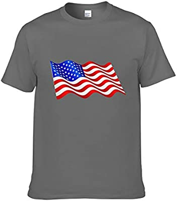 Camiseta de manga corta para hombre, diseño de bandera de Estados Unidos, Hombre, color veteado oscuro, tamaño small: Amazon.es: Deportes y aire libre