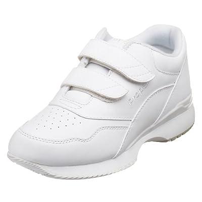 Propet Women's Tour Walker Strap Sneaker, White, 12 XX (US Women's 12 EEEE) | Walking