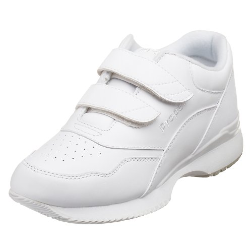 Propet Women's Tour Walker Strap Sneaker,White,7.5 M (US Women's 7.5 B)
