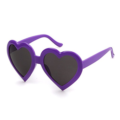 Love Heart Shaped Sunglasses Goggles Sun - Shaped Heart Goggles