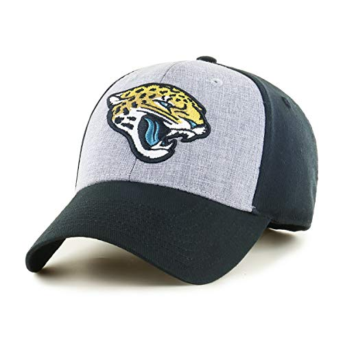OTS NFL Jacksonville Jaguars Male Essential All-Star Adjustable Hat, Black, One Size