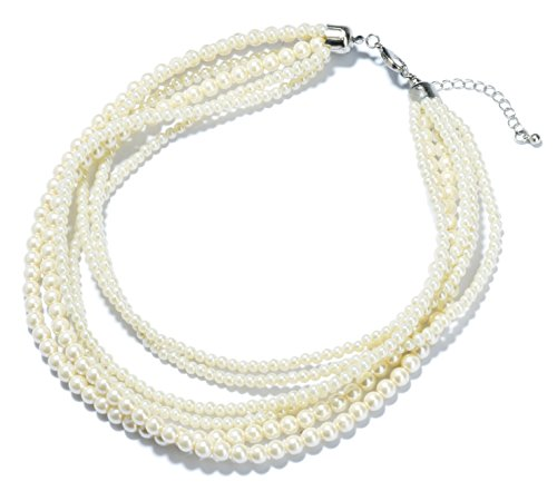 Split Personality Costume Ideas (Veenajo Cyber Monday Multi Strands Simulated Pearl Strands Necklace for Women)