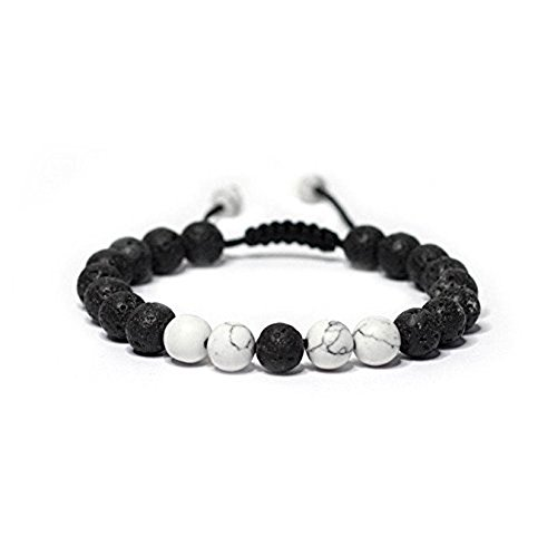 Price comparison product image Adjustable Calm Lava Stone Diffuser Bracelet - meditation, grounding, healing, genuine stones, natural, essential oils, self confidence, holistic, aromatherapy