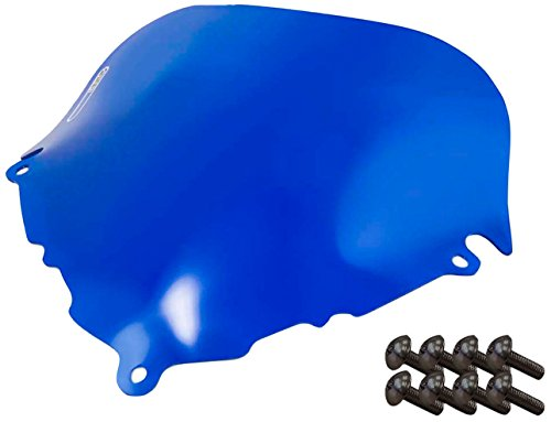 Sportbike Windscreens ADSW-208B Blue Windscreen (Suzuki Katana 600/750 (98-04) With Silver screw kit), 2 Pack