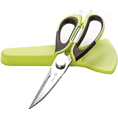 WISLIFE Kitchen Shears - Come-Apart Multi-function Kitchen Scissors,Can Opener and Nut Cracker