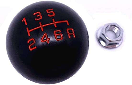 Pommeau de Levier de Vitesses /à 5//6 Vitesses Compatible avec Civic City FD2 FN2 EP3 Type R DC2 DC5 AP1 AP2 S2000 F20C Noir Gris Argent