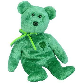 f36bc596a97 Amazon.com  Ty Beanie Babies Erin - Irish Bear  Toys   Games