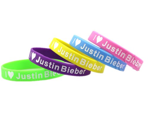 Justin Bieber merchandise accessories 3D silicon wristban...