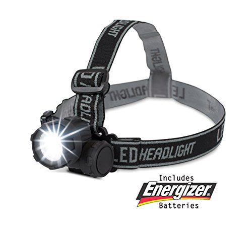 Internet's Best LED Headlight | 2 Modes Headlamp | Lightweight | Battery Powered Helmet Light for Hiking Camping Running Reading | 3 AAA Batteries Included (Chasing Clip Light)