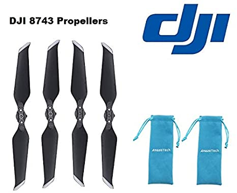 7a1198251fa Amazon.com: 2 Pair Genuine DJI Mavic 2 Low-Noise Propellers for Mavic 2  Zoom and Mavic 2 Pro Drone with 2 Amazetech Propeller Bag: Camera & Photo
