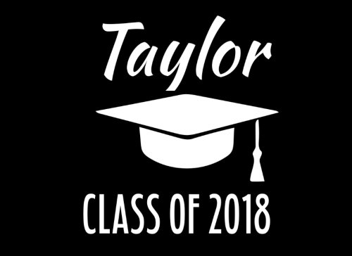(Taylor Class Of 2018: Graduation Cap Guest Book For Party, Personalized Gift. Graduate Advice or Autograph Book Unlined. (Tassel)