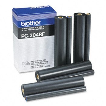 (compatible with Brother Fax Refill Roll 4pk for PC201 1570MC/MFC1770/1870/1970/PPF1170/1270 PC204RF)