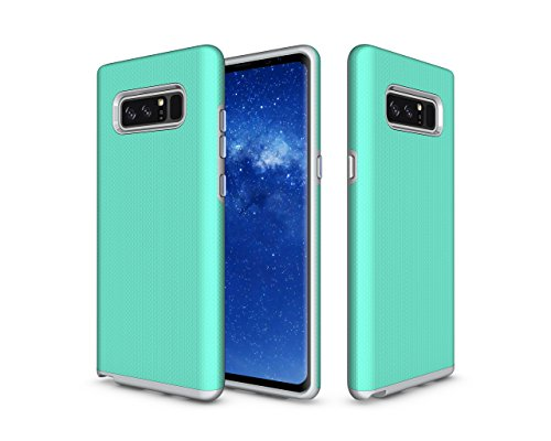 Samsung Galaxy Note 8 Case, GPROVA [Drop Protection] [Soft TPU Interior] Dual Layer Shock Resistant Case for Samsung Galaxy Note 8 (Mint+Grey) (Samsung Galaxy Note 4 Speck Case)