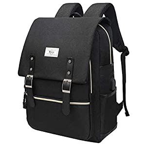 College Bag Fits up to 15.6'' Laptop Casual Rucksack Waterproof Business Travel School Backpack Daypacks with USB Unisex…