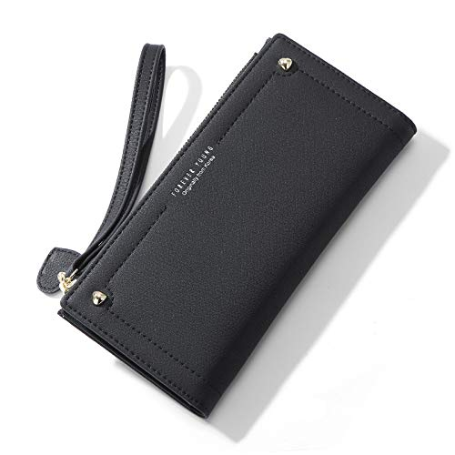 Long ladies wallet fashion love mobile phone wallet hand hold wallet female black