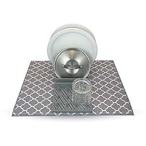 Amazon Com Grand Fusion Dish Drying Mat With Rack