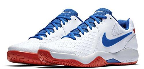 Nike NIKE AIR ZOOM Resistance–Sneaker, Herren, Weiß (White/Blue jay-pure platinum-action Red)