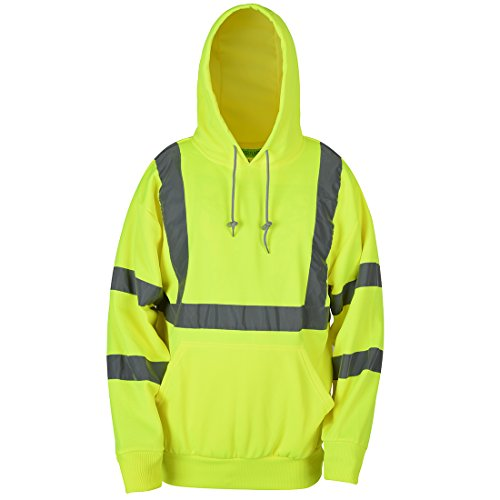 SHORFUNE Reflective High Visibility Safety Hooded Sweatshirt FGST-001-Y-M