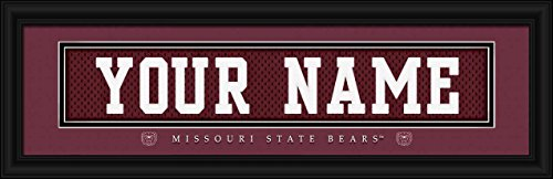 Laminated Visuals Missouri State Bears - Personalized Jersey Nameplate - Framed Poster Print