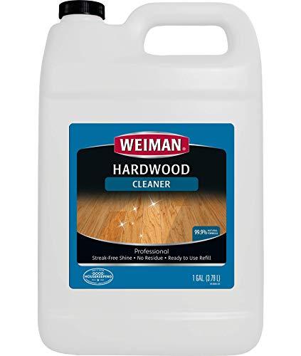 Finished Floor Cleaner - Weiman Hardwood Floor Cleaner - 128 Ounce Refill - Finished Engineered Hardwood Vinyl and Laminate Floors