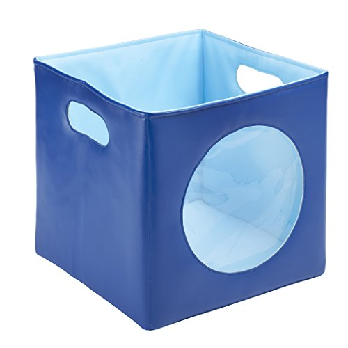 ECR4Kids Softzone Peek-A-Boo Storage Bin, Blue