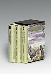 The three volumes that make up Tolkien's epic classic The Lord of the Rings are here presented in their standard cloth editions including large format fold-out maps and an extensive appendices. Set contains The Fellowship of the Ring, ...