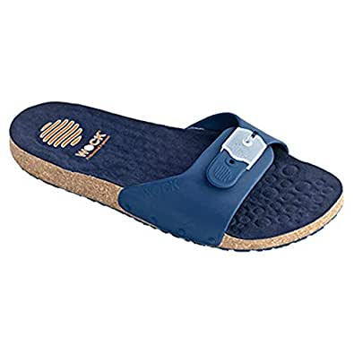 Wock Blue Flip Flops Slipper For Women