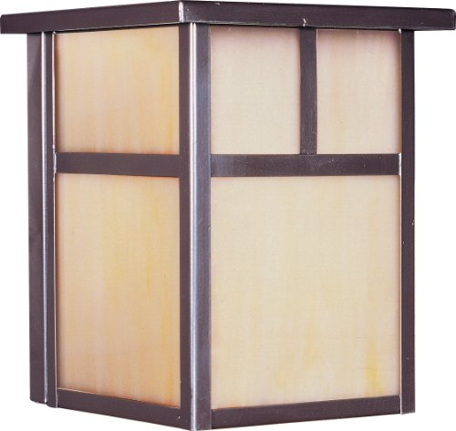 Maxim 55050HOBU Coldwater LED 1-Light Outdoor Wall Lantern, Burnished Finish, Honey Glass, LED Bulb, 40W Max, Wet Safety Rating, Standard Dimmable, Glass Shade Material, 2016 Rated Lumens