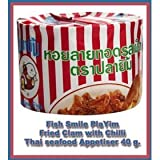 smiling fish - 10x Smiling Fish Pla Yim Fried Baby Clam with Chilli Thai Seafood 40 G. Amazing of Thailand