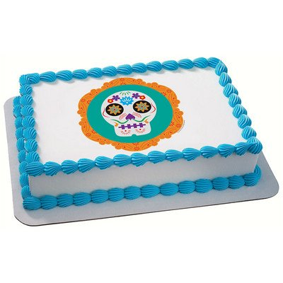 Dia Da Los Muertos (Day of the Dead) Edible Icing Image for 1/4 sheet cake