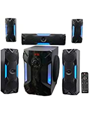 """Rockville HTS56 1000w 5.1 Channel Home Theater System/Bluetooth/USB+8"""" Subwoofer"""