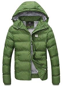Wantdo Men's Winter Thicken Cotton Outwear Coat With Hood