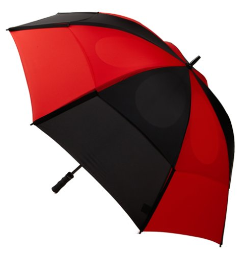 GustBuster Proseries Gold 62-Inch Style 2 Golf Umbrella (Red/Black)