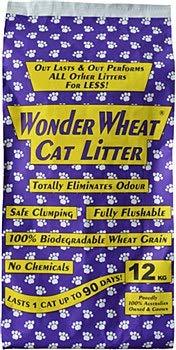 12kg Wonder Wheat Cat Litter 12kg