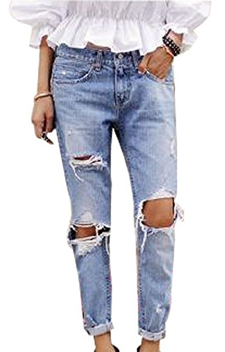 J DEAL%C2%AE Women Destroyed Ripped Jeans product image