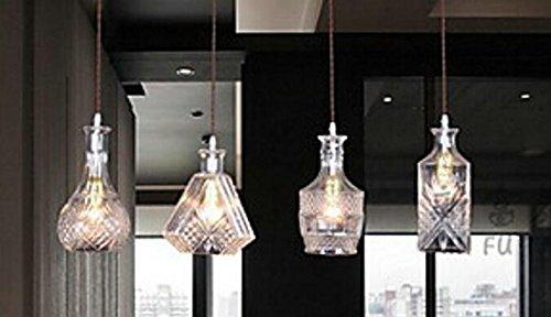Muidege - Lámpara de techo colgante con forma de botella ...