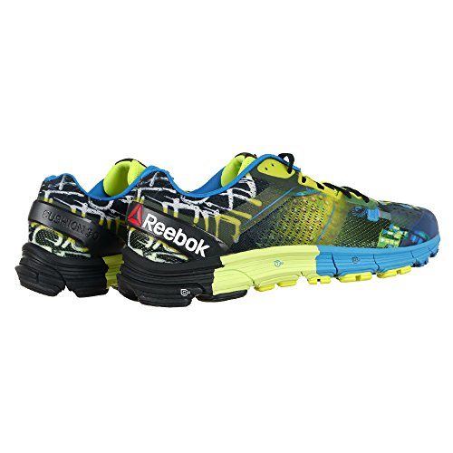 Reebok One Cushion 3.0 Cg, Zapatillas de Running para Hombre Azul / Amarillo / Negro (Blue Sport / Solar Yellow / Black)
