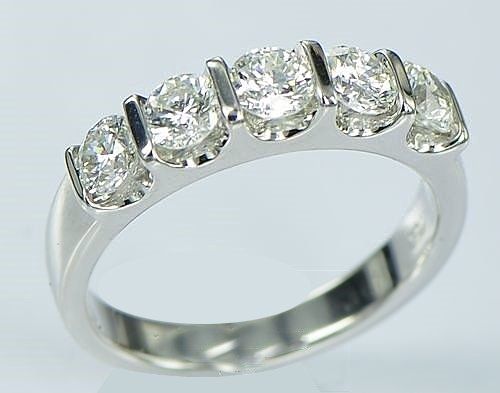 Vs2 Natural (0.50ct F/VS2, Real Five Natural round Diamond Ring,14K White Gold,Size:5-9 Engagement/ wedding, fashion ring)