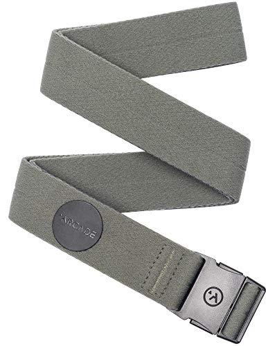 Arcade Belt Mens Adventure Slim Ranger Belts: Narrow Width Elastic Stretch Webbing, Micro Adjust Buckle, Ivy Green I