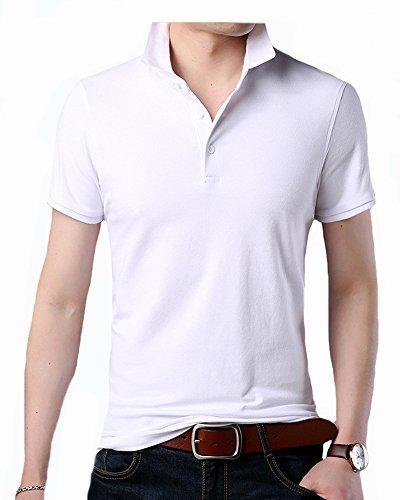 居間迷惑囲いITrustit ポロシャツ メンズ 半袖ポロシャツ 二重衿 無地 カジュアル ゴルフ シャツ ゴルフウェア シンプル 通気性 夏 87716