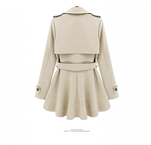 Buy belted khaki double breasted shirt dress - 7