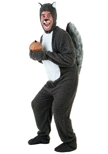 Adult Squirrel Costume X-Large Gray