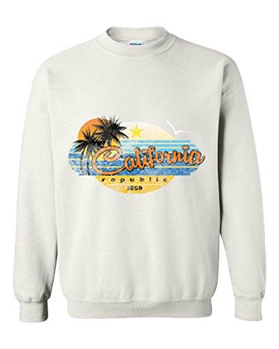 Ugo California Republic Palm Tree Sun Beach What To Do In California? Travel Unisex Crewneck - Carson Airport California