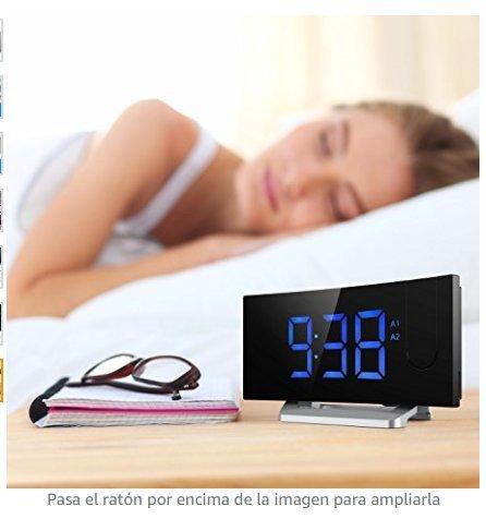 MPOW Radio Despertador Digital,Despertador Proyector con Alarma de ...