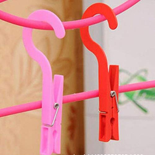 (Agordo Hooks Towels Clamp Travel Laundry Hook Clothes Clip Socks Drying Hangers)