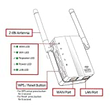WiFi Range Extender, Wsiiroon 300Mbps Wireless WiFi Repeater Internet Signal Booster, 360Degree Full Coverage, Extends WiFi Range to Smart Home Devices