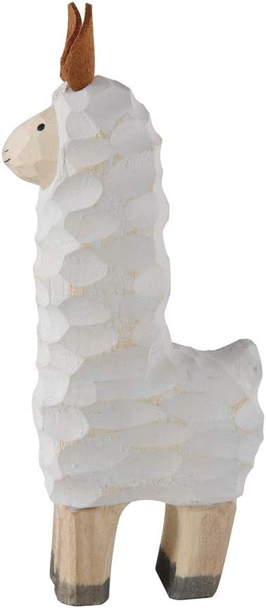 Creative Co-op Llama Hand-Carved Paulownia Wood Figurine