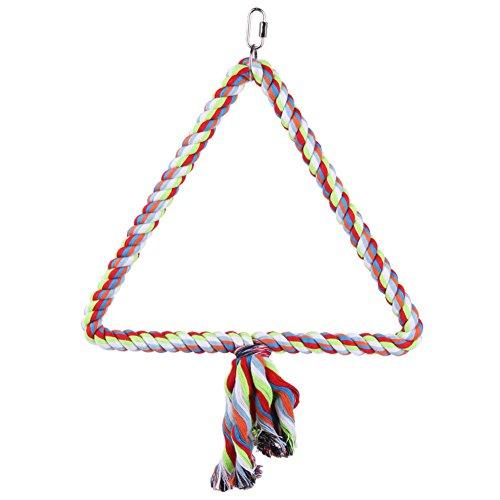 Awakingdemi Colorful Cotton Rope Ladder Swing Shape Bird Climbing Rope,Medium Triangle Swing Parrot Toy by Awakingdemi