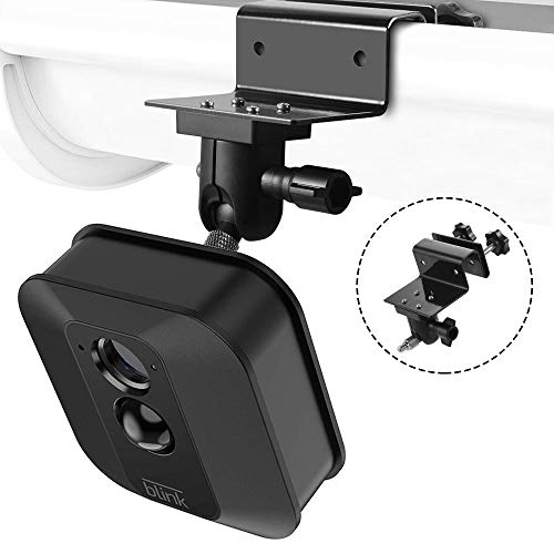 (Gutter Mount for Blink XT/ XT2/XT3 +Security Bracket Indoor Outdoor Use for Blink XT Blink XT2 Blink XT3 with Universal Screw Adapter Camera Security System,Best Viewing Angle for Surveillance Camera)