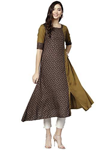 Designer Kurta Kurti Indian Ethnic Top Tunic Party Wear Women Dress Blouse (S)